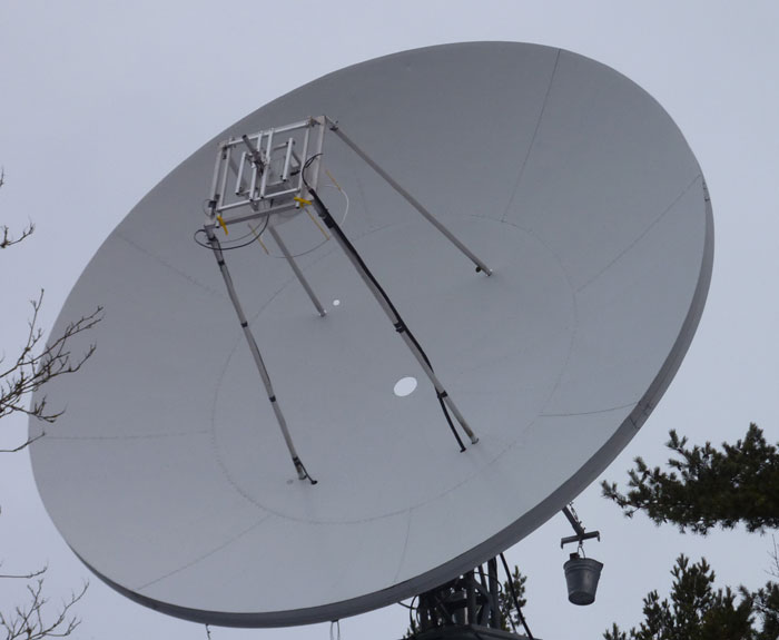 %.5 m dish with 432 MHz BFR Loop